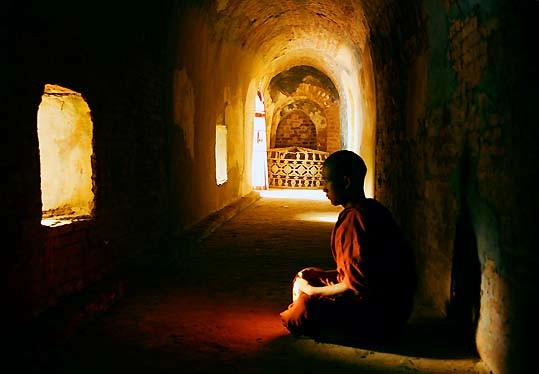 Deep-meditating-monk