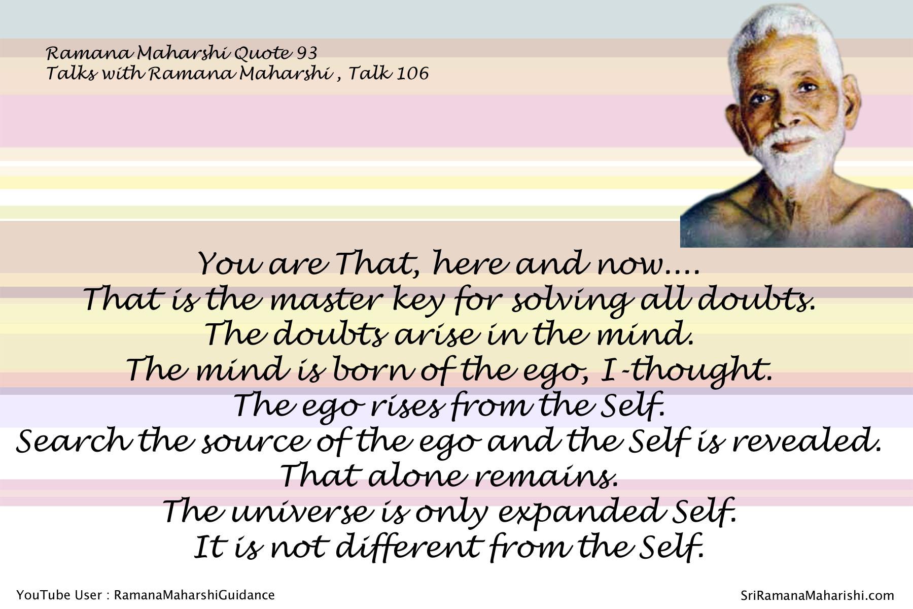 Ramana Maharshi Quote 92