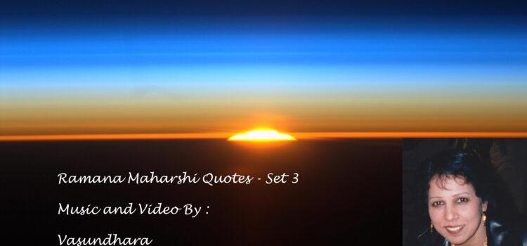 Ramana Maharshi Quotes in English – (Set 3)