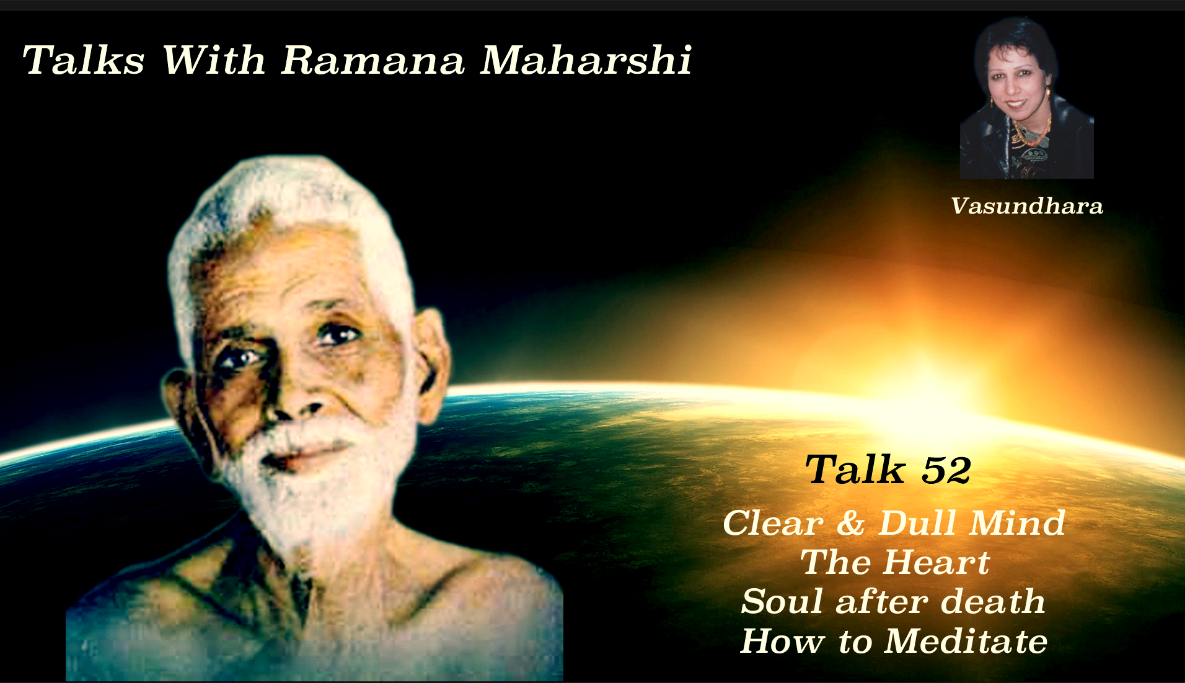 Talk 52. Clear & Dull Mind, Individual soul after death, What is Meditation