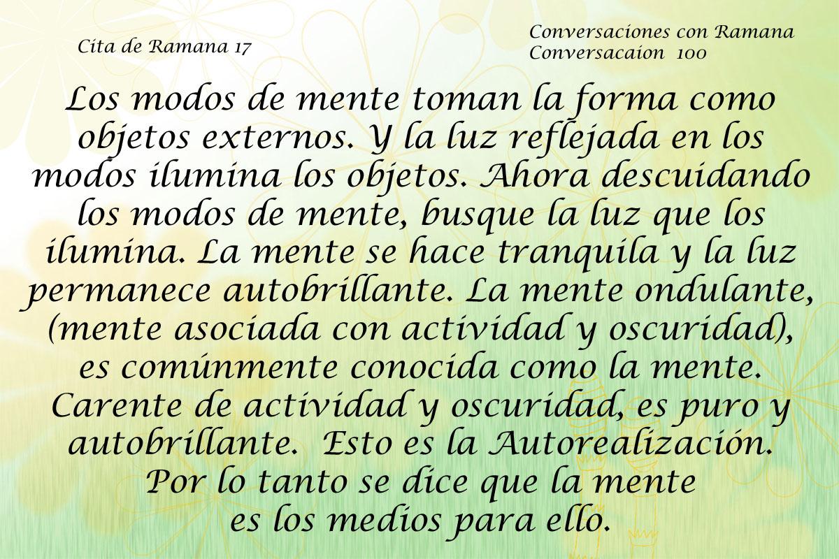 Cita de Ramana 17