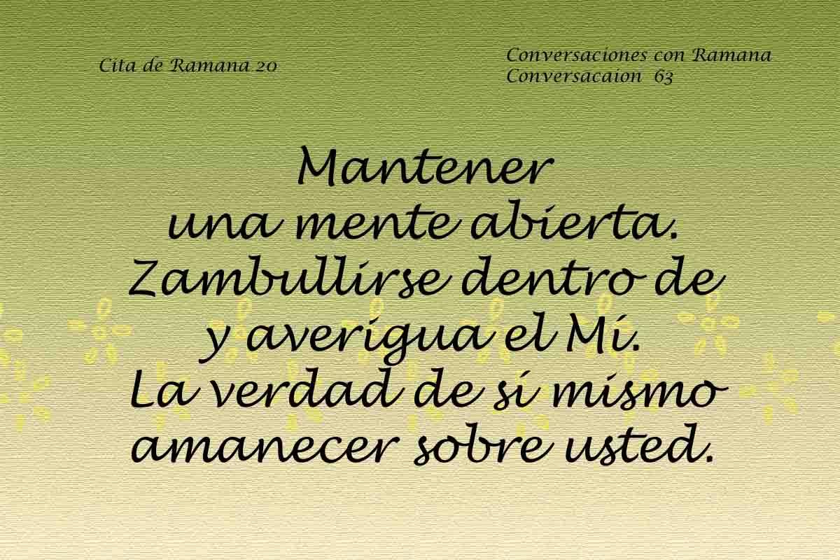 Cita de Ramana 20