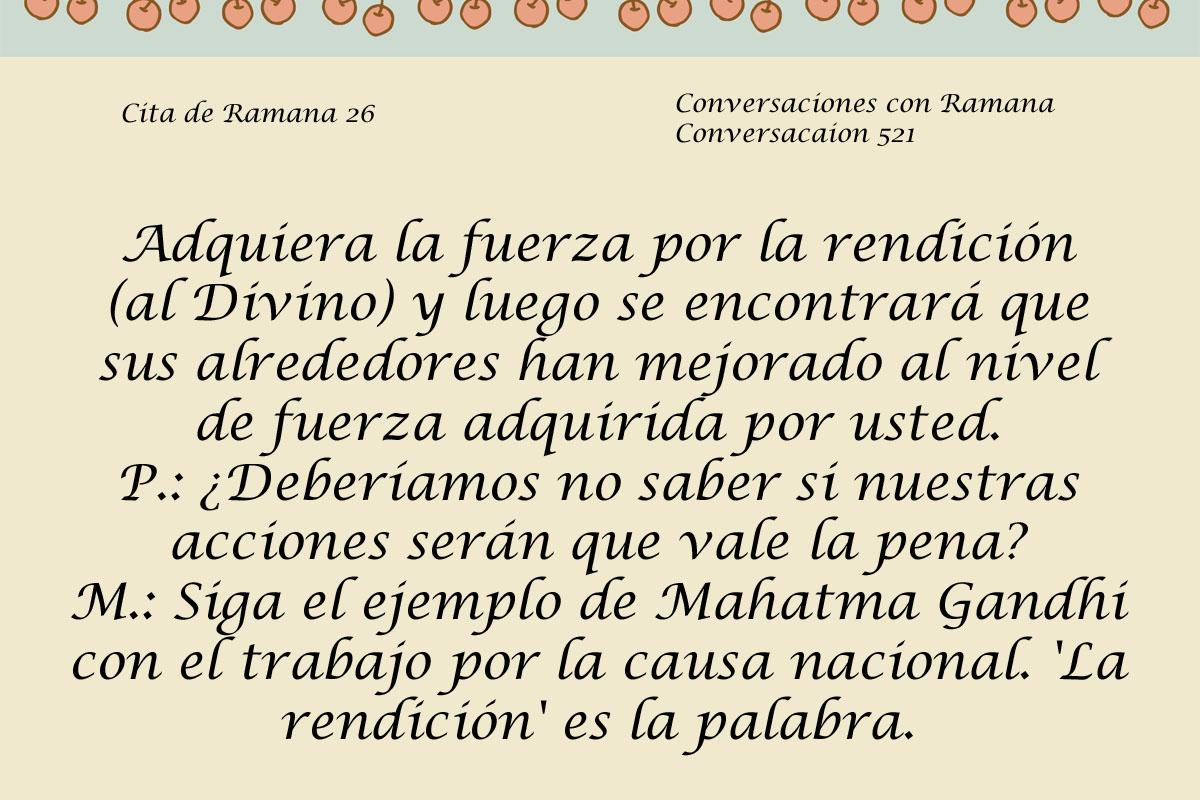 Cita de Ramana 26