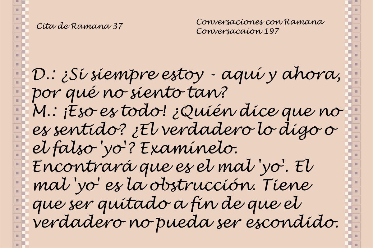 Cita de Ramana 37