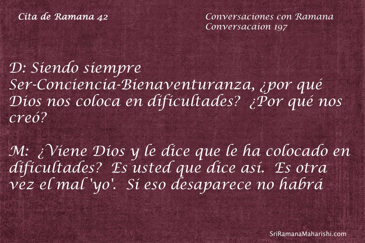 Cita de Ramana 42