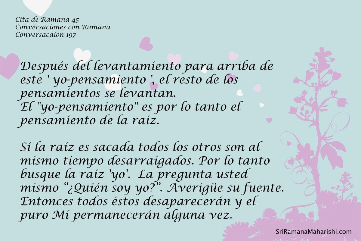 Cita de Ramana 45