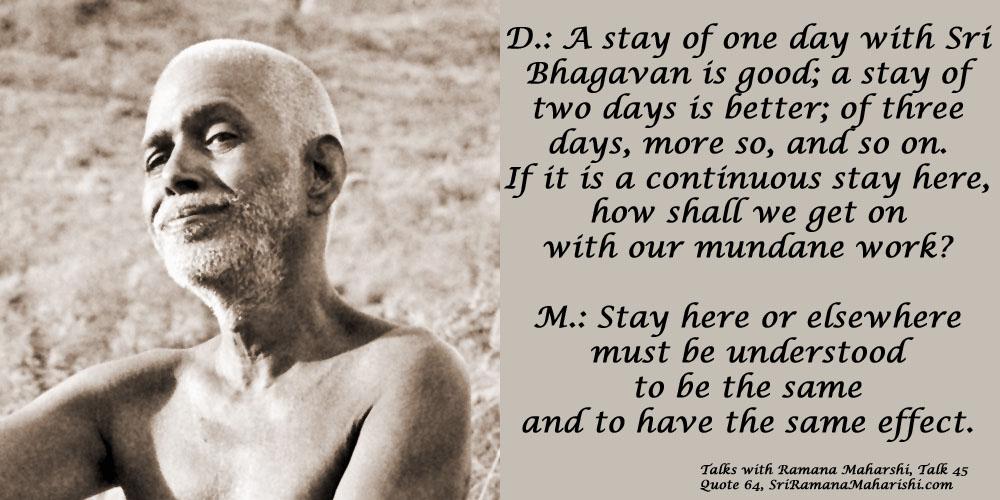 Ramana Maharshi Quote 64