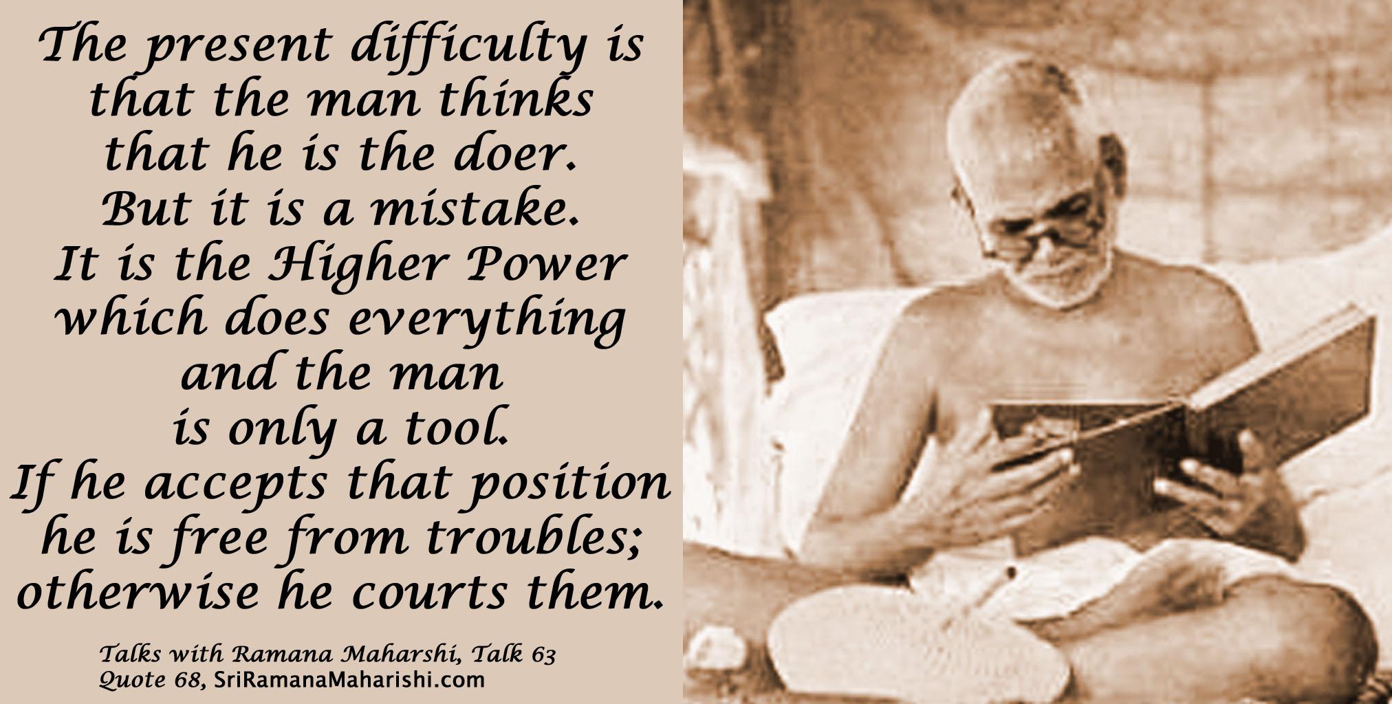 Ramana Maharshi Quote 68