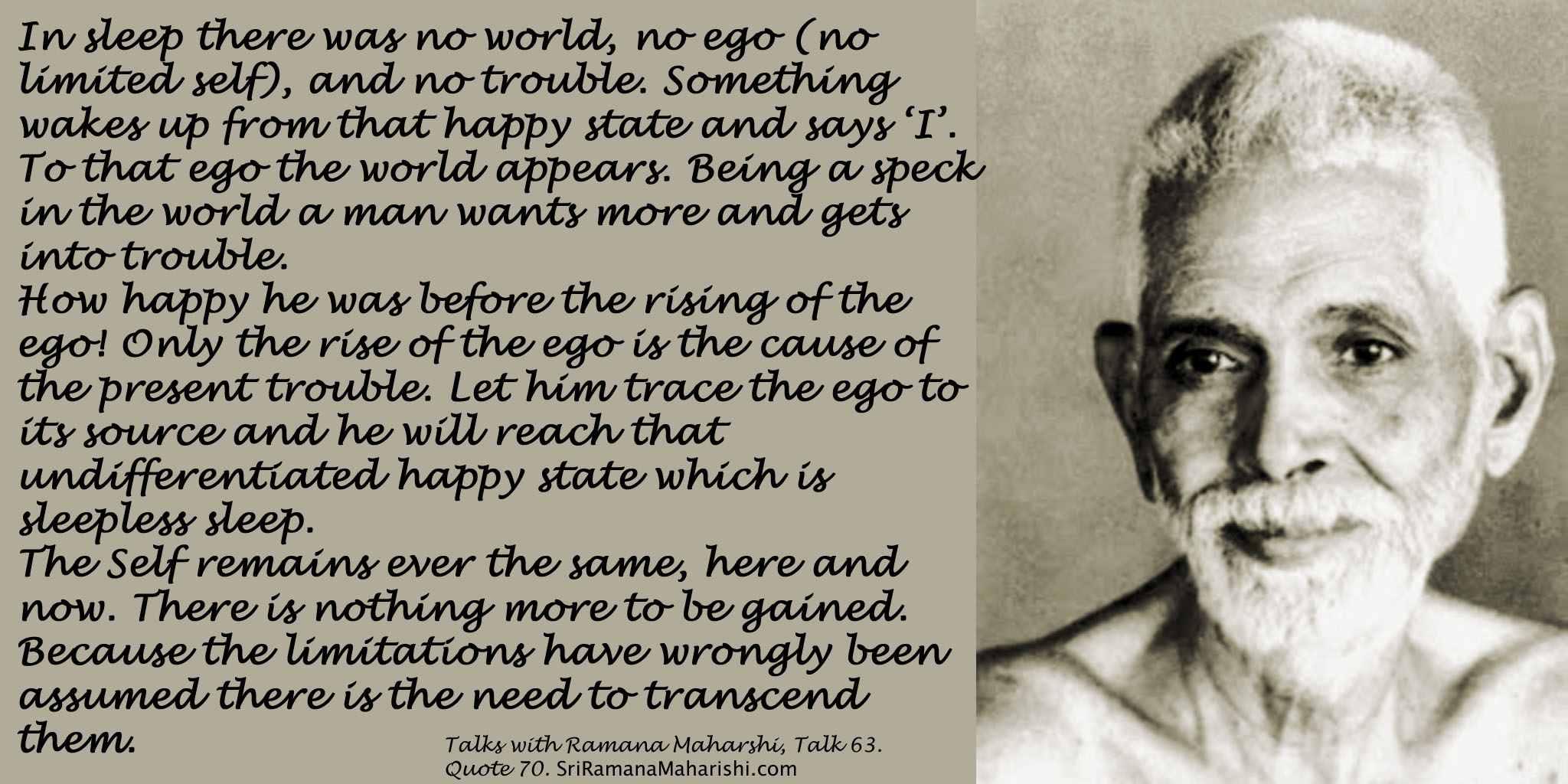 Ramana Maharshi Quote 70