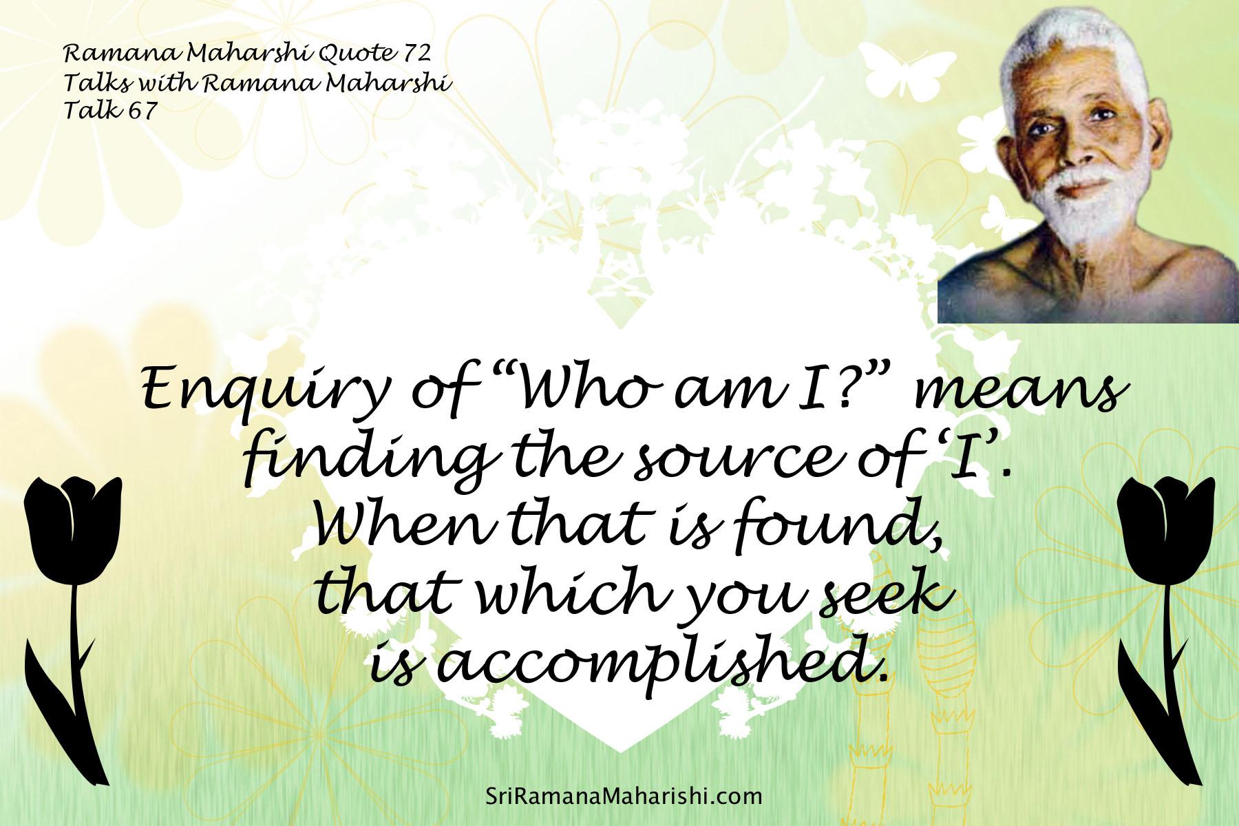 Ramana Maharshi Quote 72