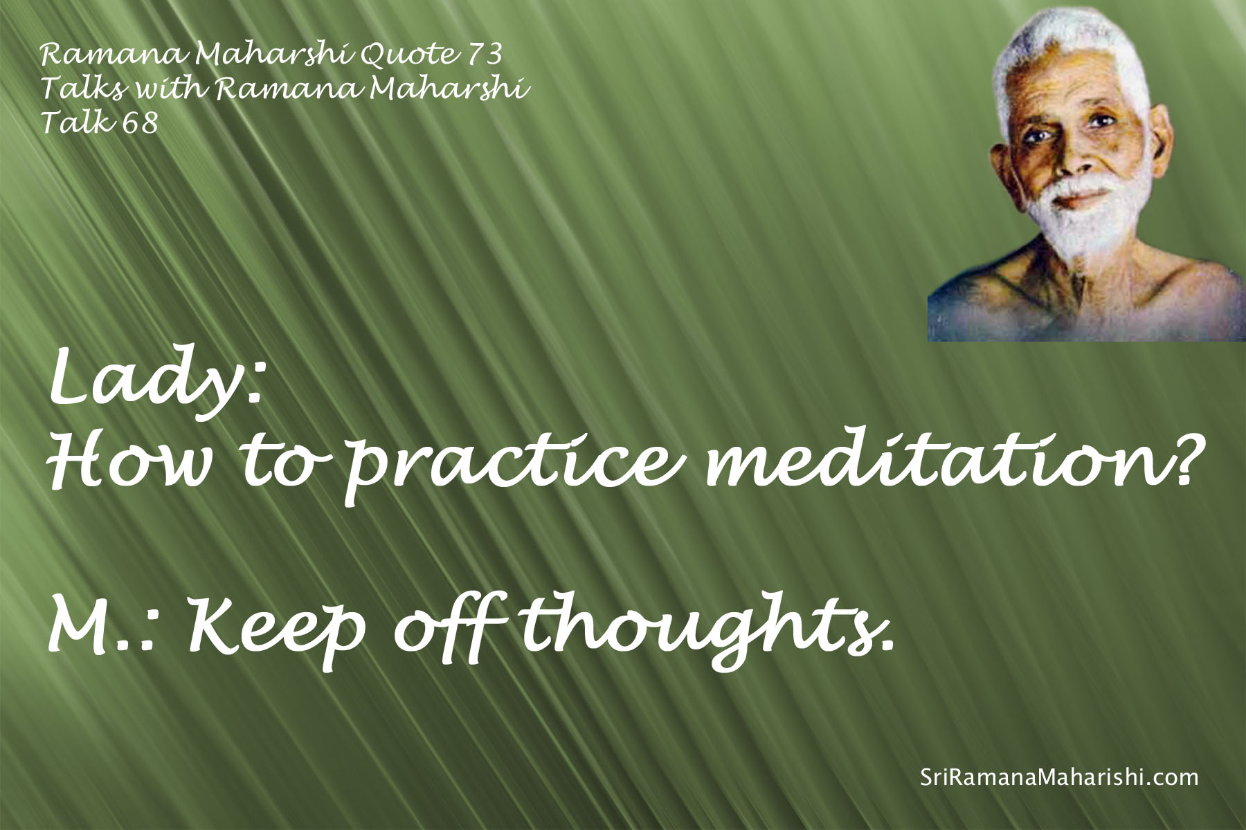 Ramana Maharshi Quote 73