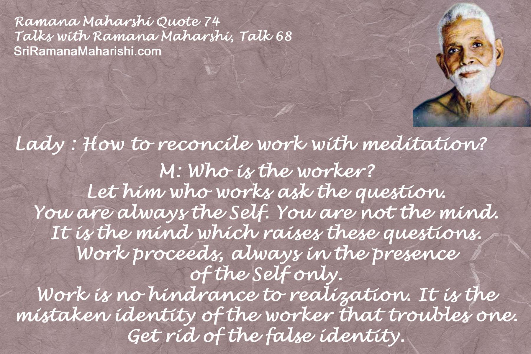 Ramana Maharshi Quote 74