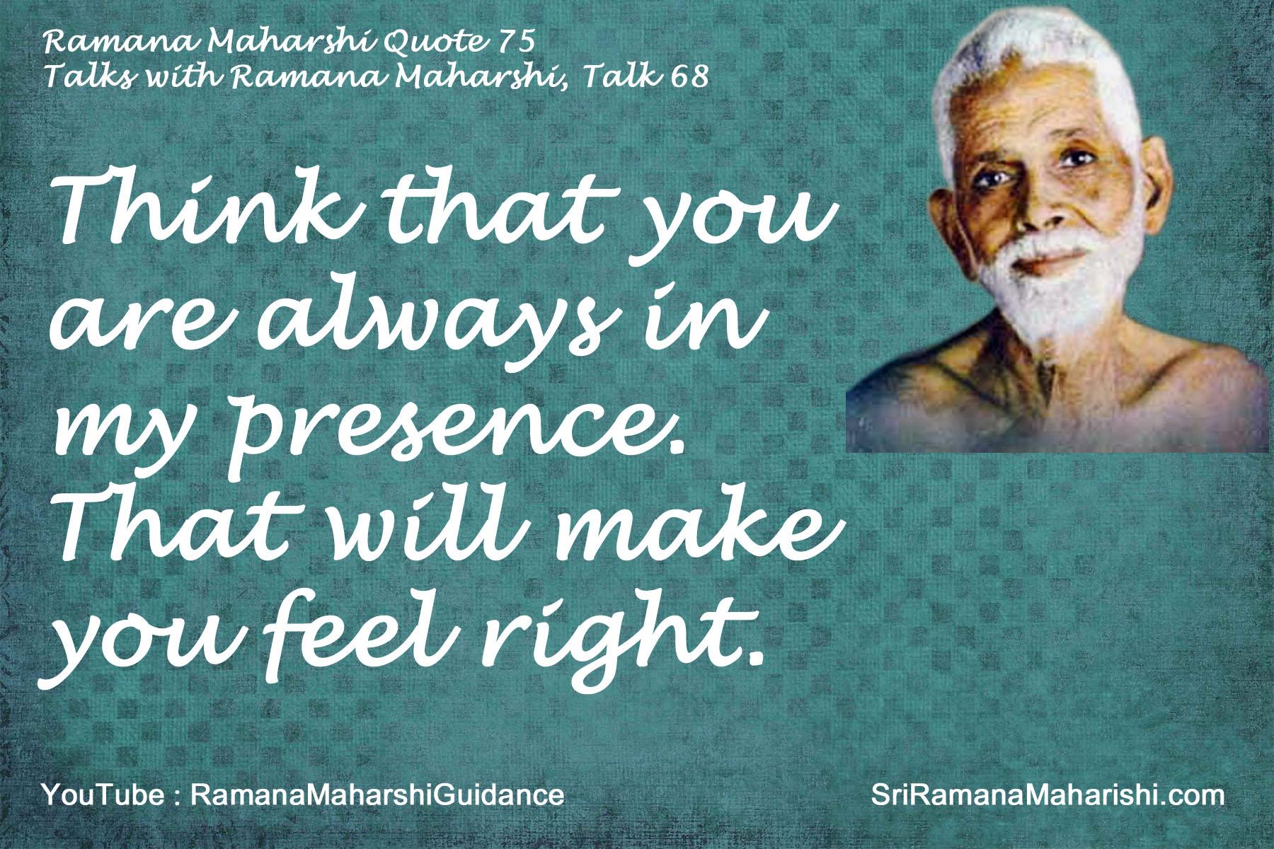 Ramana Maharshi Quote 75