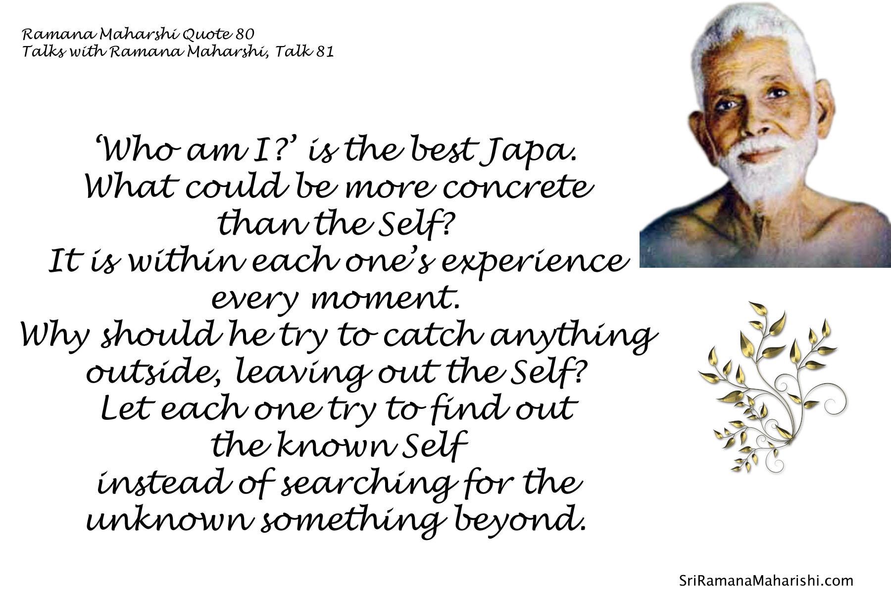 Ramana Maharshi Quote 80