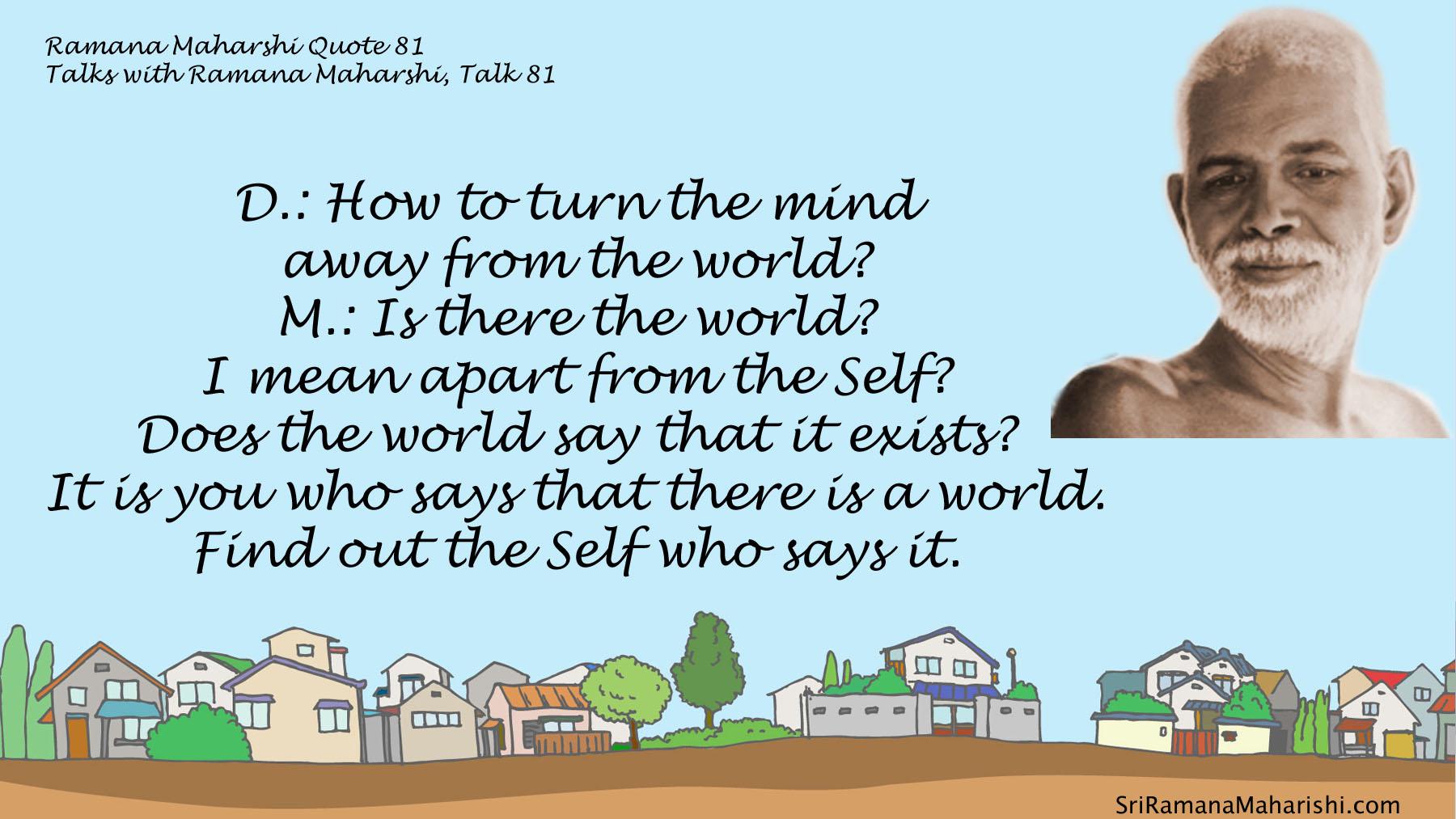Ramana Maharshi Quote 81