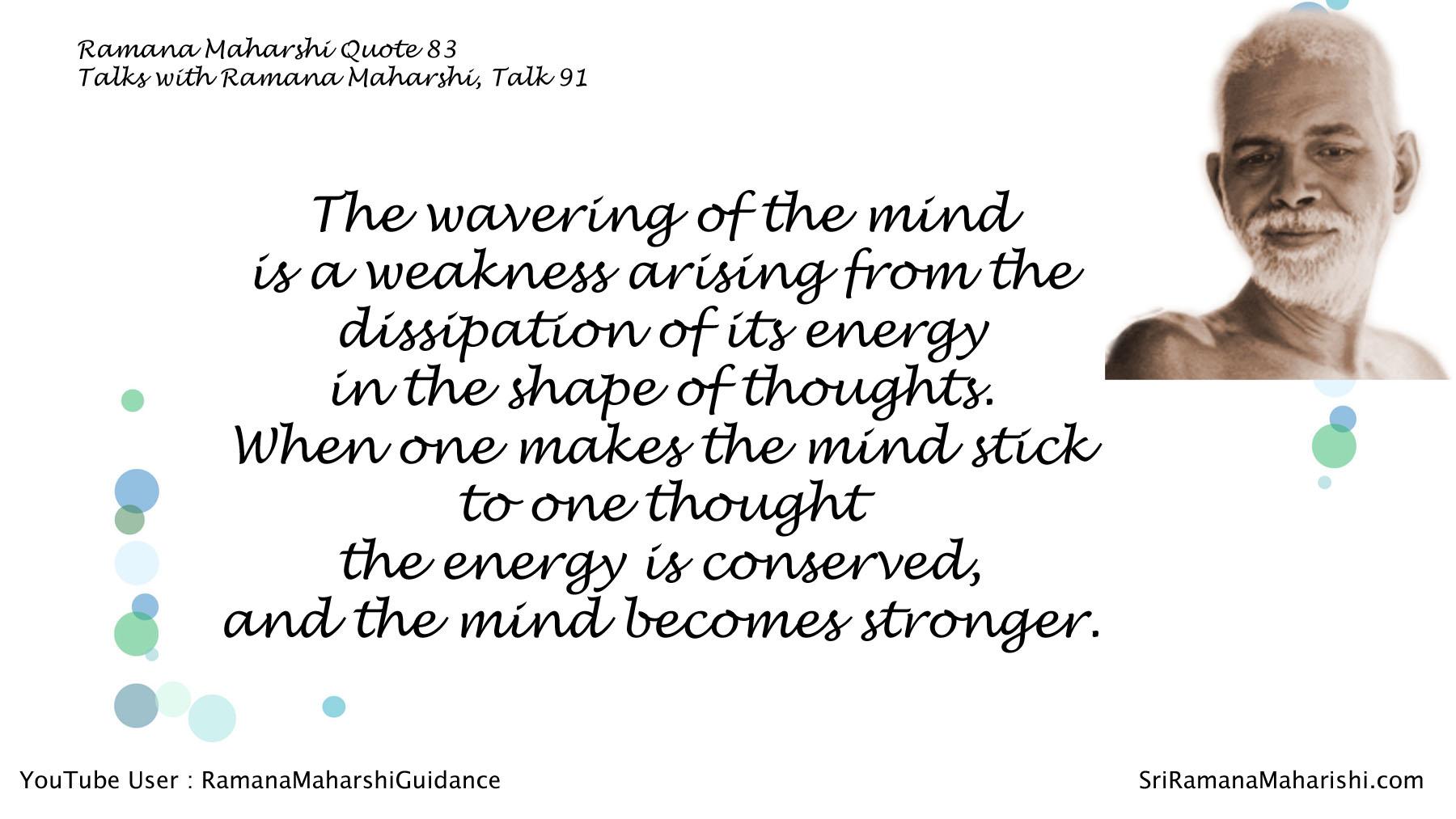 Ramana Maharshi Quote 83