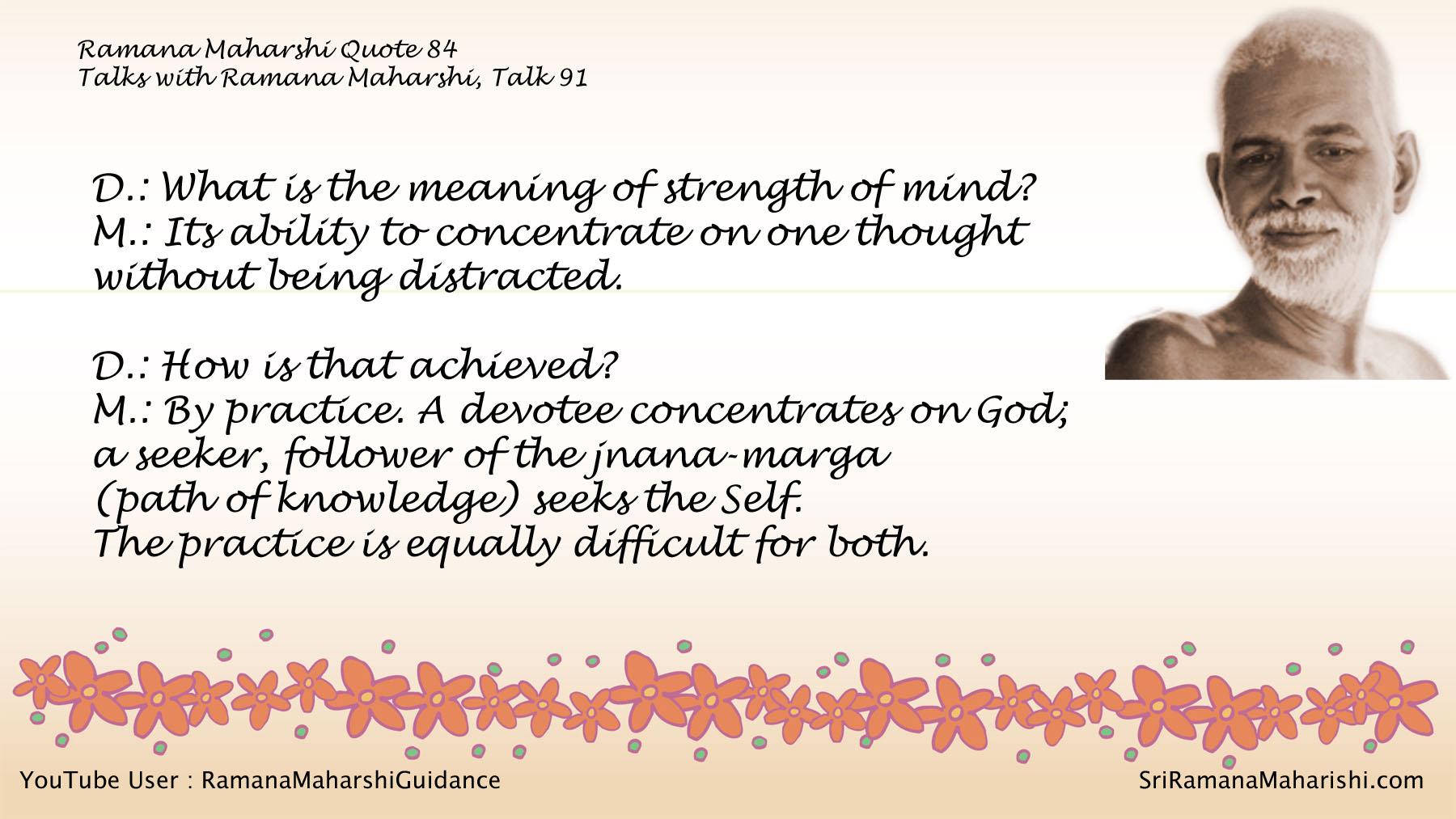 Ramana Maharshi Quote 84