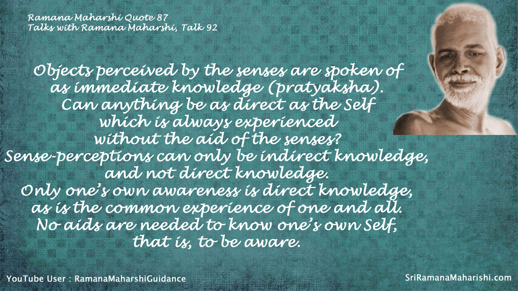 Ramana Maharshi Quote 87